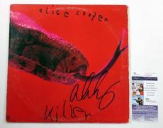Alice Cooper Signed LP Record Album Killer w/ JSA AUTO