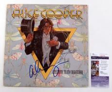 Alice Cooper Signed LP Record Album Welcome To My Nightmare w/ JSA AUTO