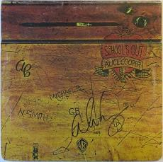Alice Cooper Signed School's Out Autographed Vinyl Cover PSA/DNA #AB24577