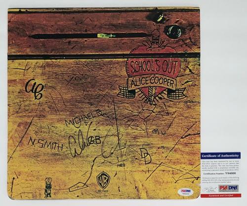 Alice Cooper Signed School's Out Record Album Psa Coa V84000