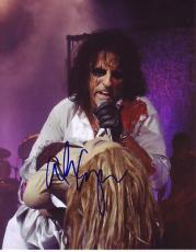 ALICE COOPER signed *The Godfather of Shock Rock* 8X10 photo W/COA Hard Rock #3