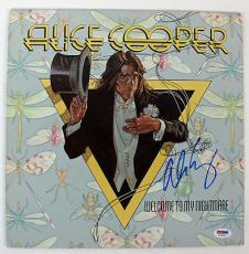 Alice Cooper Signed Welcome To My Nightmare Album Cover PSA #T76251