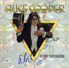 Alice Cooper Signed Welcome To My Nightmare Album Cover PSA/DNA ITP #7A26899