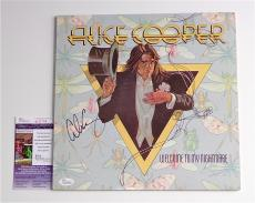 Alice Cooper Signed Welcome To My Nightmare Record Album Jsa Coa K42154
