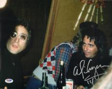 ALICE COOPER w/ John Lennon Signed Autographed 11x14 Photo PSA/DNA #W81830