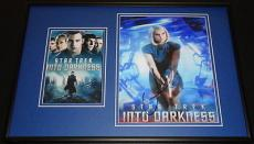 Alice Eve Signed Framed 12x18 Photo Set Star Trek