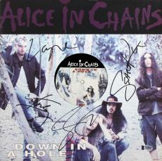 Alice In Chains (4) Signed Down In A Hole Album Cover W/ Vinyl BAS #A05090