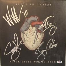 "ALICE IN CHAINS All 4 Band Signed ""Black Gives Way To Blue"" Album LP PSA/DNA"