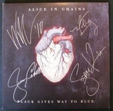 "Alice In Chains Autographed ""Black Gives Way To Blue"" Album Signed PSA DNA COA"