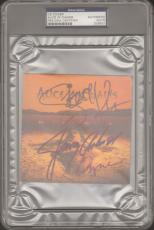 LAYNE STALEY, Cantrell & Kinney Signed ALICE IN CHAINS CD Cover PSA/DNA SLABBED