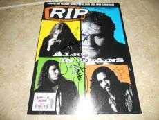 Alice In Chains Layne Staley +3 Band Signed RIP Mag Cover Photo PSA Certified