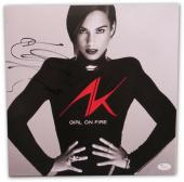 Alicia Keyes Signed Autographed Album Cover Girl on Fire JSA U16545