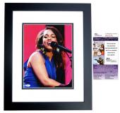 Alicia Keys Signed - Autographed Concert 11x14 inch Photo BLACK CUSTOM FRAME - JSA Certificate of Authenticity