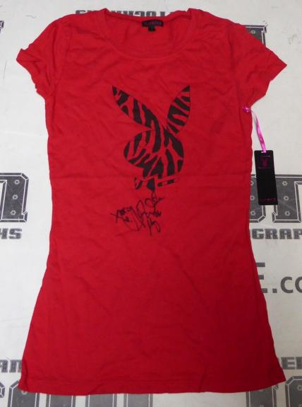 Alison Waite Signed Playboy Bunny Red Shirt PSA/DNA May 2006 Playmate Autograph
