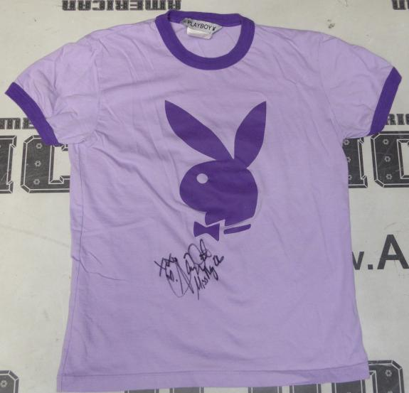 Alison Waite Signed Playboy Purple Shirt PSA/DNA COA May 2006 Playmate Autograph