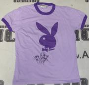 Alison Waite Signed Playboy Purple Shirt PSA/DNA COA May 2006 Playmate Autograph