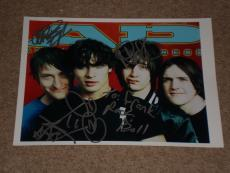 """All American Rejects"""" Band Signed Autographed 8.5x11 Photo - Signed By All 4!"""