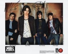 ALL AMERICAN REJECTS HAND SIGNED 8x10 GROUP PHOTO+COA   AWESOME    SIGNED BY ALL