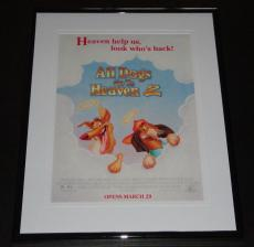 All Dogs Go To Heaven 2 11x14 Framed ORIGINAL Advertisement Charlie Sheen
