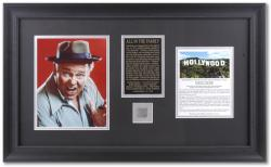 All In The Family Framed 8x10 Archie Photograph with Piece of Hollywood Sign