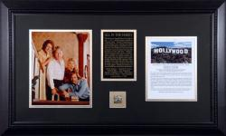 All In The Family Framed 8x10 Cast Photo with Piece of Hollywood Sign