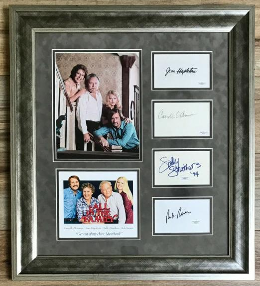 ALL IN THE FAMILY full cast signed custom framed display-JSA