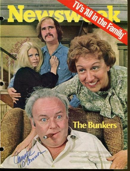 All In The Family Signed Newsweek Mag Cover Autographed O'Connor Stapleton JSA