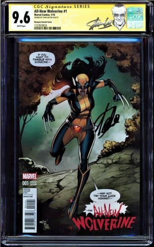 All- New Wolverine Cgc #1 9.6 Marquez Variant Ss Stan Lee New Label #1227829024
