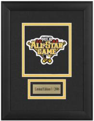 Major League Baseball Framed 2006 All Star Game Emblem Patch with Descriptive Plate