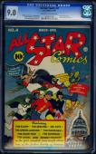 All Star Comics #4 Cgc 9.0 Oww 1st Adventure Justice Society America #1076471003