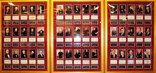 All U.S. Presidents Signed Cut Display (45) George Washington to Donald Trump – COA PSA/DNA
