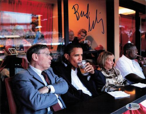 Allan Bud Selig signed 8x10 Photo BAS Beckett Barack Obama