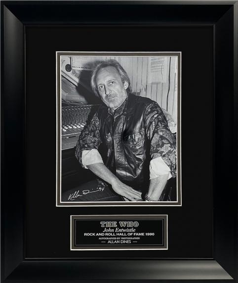 Allan Dines Autograph Photo John Entwistle The Who 13×16