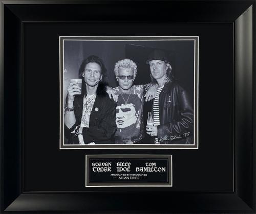 Allan Dines Autograph Photo Steven Tyler Billy Idol Tom Hamilton 13×16