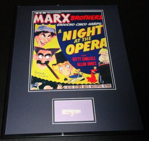 Allan Jones Signed Framed 16x20 Photo Poster Display Night at The Opera Marx