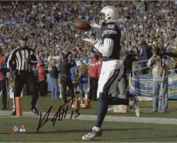 "Keenan Allen San Diego Chargers Autographed 8"" x 10"" Horizontal TD Catch Photograph"