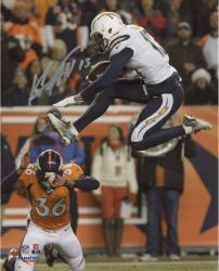 "Keenan Allen San Diego Chargers Autographed 8"" x 10"" Vertical Jumping Photograph"