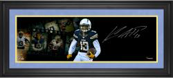 Keenan Allen San Diego Chargers Framed Autographed 10'' x 30'' Film Strip Photograph - Mounted Memories