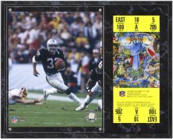 Oakland Raiders Super Bowl XVIII Marcus Allen Plaque with Replica Ticket