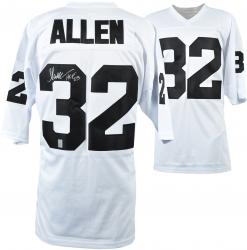 Marcus Allen Oakland Raiders Autographed White Custom Jersey with HOF '03 Inscription - Mounted Memories