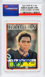 Marcus Allen Los Angeles Raiders Autographed 1983 Topps #294 Rookie Card with SB XVIII MVP Inscription