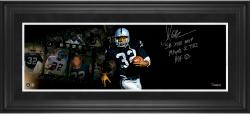 Marcus Allen Oakland Raiders Framed Autographed 10'' x 30'' Film Strip Photograph with Multiple Inscriptions-#1 of a Limited Edition of 24 - Mounted Memories