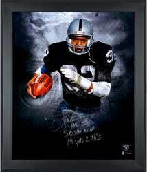 Marcus Allen Oakland Raiders Framed Autographed 20'' x 24'' Photograph - - Mounted Memories