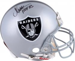 "Marcus Allen Autographed Raiders Proline Helmet with ""HOF 03"" Inscription"