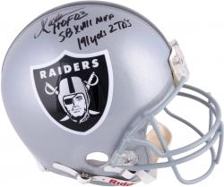 Marcus Allen Oakland Raiders Autographed Riddell Pro-Line Authentic Helmet with Multiple Inscriptions-#24 of a Limited Edition of 24