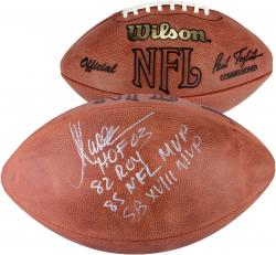 Marcus Allen Oakland Raiders Autographed Tagliabue Pro Football with Multiple Inscriptions - #2-23 of a Limited Edition of 24 - Mounted Memories