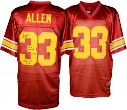 Marcus Allen USC Trojans Autographed Legends Jersey with Multiple Inscriptions-#2-23 of a Limited Edition of 24