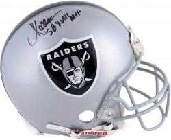 Marcus Allen Oakland Raiders Autographed Riddell Pro-Line Authentic Helmet with SB XVIII MVP Inscription
