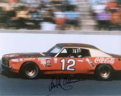 ALLISON, BOBBY AUTO (COCA COLA/IN CAR) 8X10 PHOTO - Mounted Memories