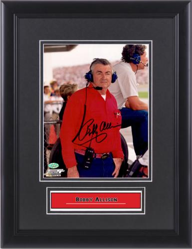 "Bobby Allison Framed Autographed 8"" x 10"" Photograph"